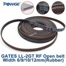POWGE ворота GT2 LL-2GT RF 2GT зубчатый ремень ГРМ ширина 6/9/10/12 мм Резиновый уменьшенное количество пыли низкая видрация машина для измельчения VORON 3D принтер V2.2
