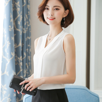 J62630 New White OL Chiffon Shirt