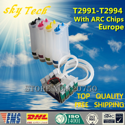 T29 CISS For T2991 - T2994 , Ink System for Epson XP-235 XP-245 XP-247 XP-332 XP-335 XP-342 etc ,With ARC Chips [Europe]