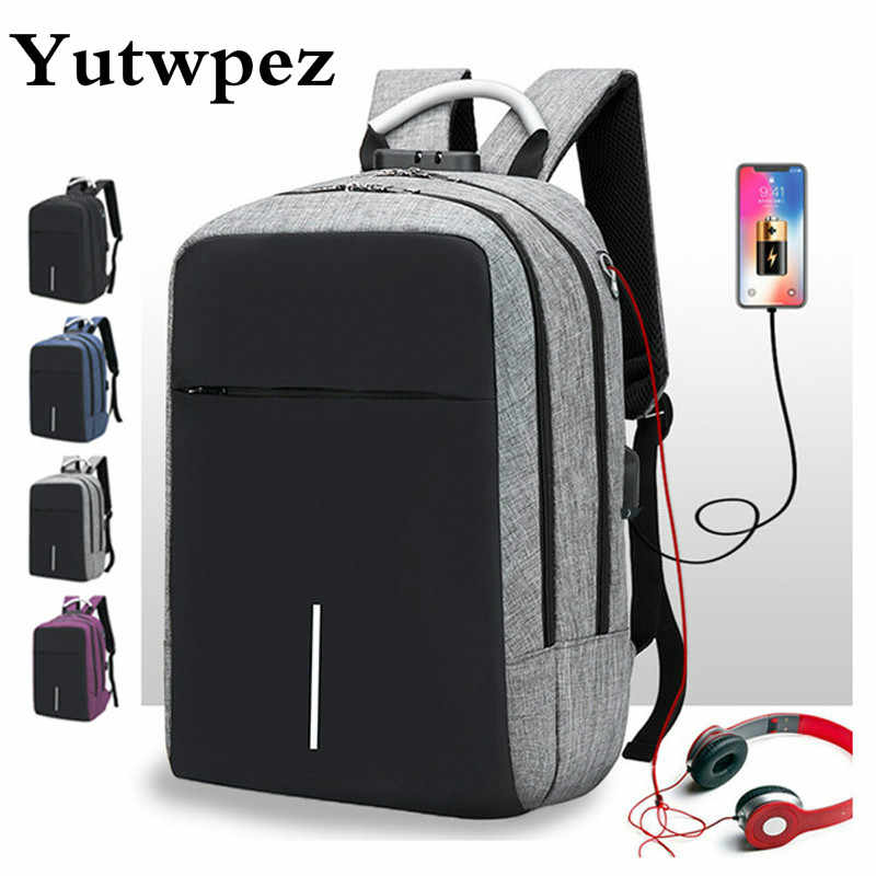 Anti Theft Laptop USB Anti-Theft Smart Man Backpack Male Antitheft Charging For Teenager School Bag Schoolbag Bagpack Back Pack