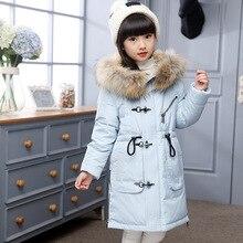 Winter Jacket For Girls Boys Children Parka Boy Girls Winter Coat Winter Kids Coat Long Duck Down Thick Faux Fur Hooded