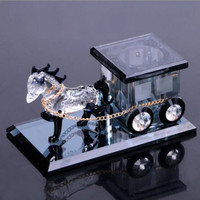 Automotive crystal carriage creative decoration perfume for Mitsubishi asx lancer x 10 9 outlander xl pajero 4 Car Accessories