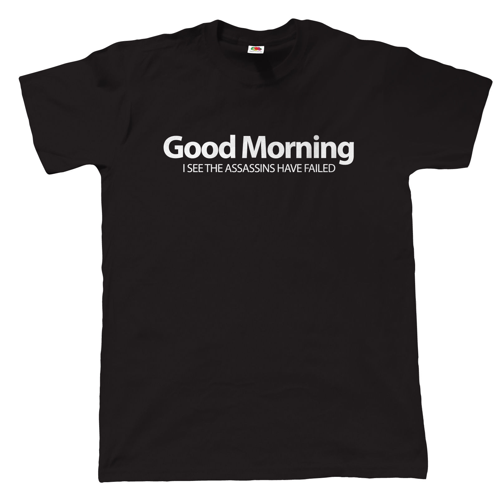 Good Morning, Mens Funny Offensive T Shirt - Gift Dad Fathers Day Loose Cotton T-Shirts For Men Cool Tops T Shirts
