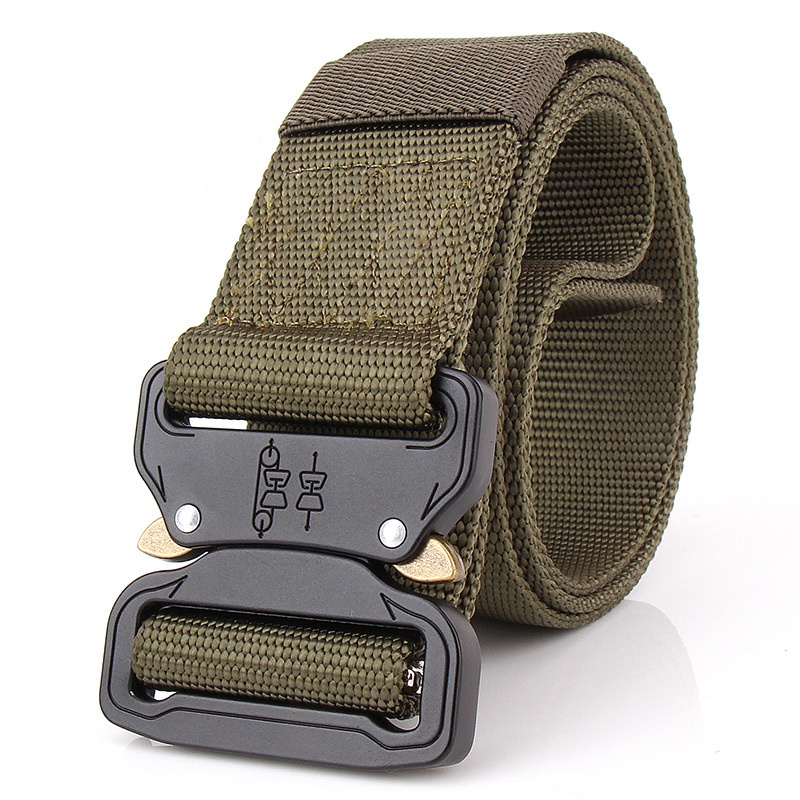 Feistel men's canvas belt Metal insert buckle military nylon Training belt Army tactical belts for Men Best quality male strap