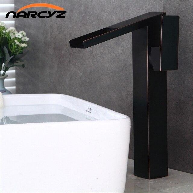 Salle de bain de haute cascade bassin robinet tall stand bassin
