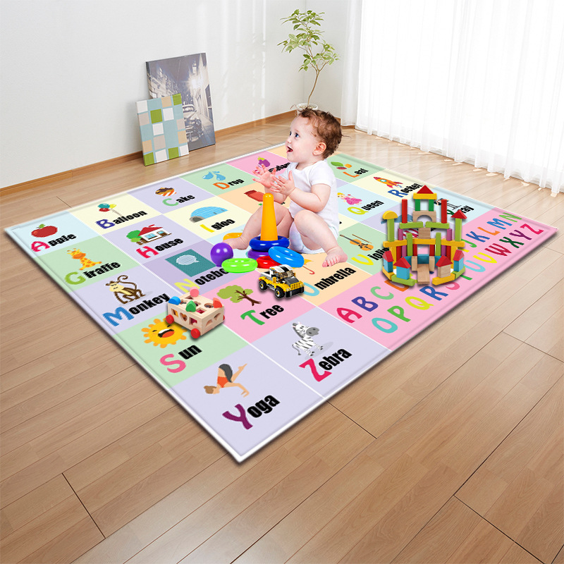 Kids Play Pad baby bedroom Crawling large area Carpet digital And letter Develop intelligence Mat for Children Big size Game MatKids Play Pad baby bedroom Crawling large area Carpet digital And letter Develop intelligence Mat for Children Big size Game Mat