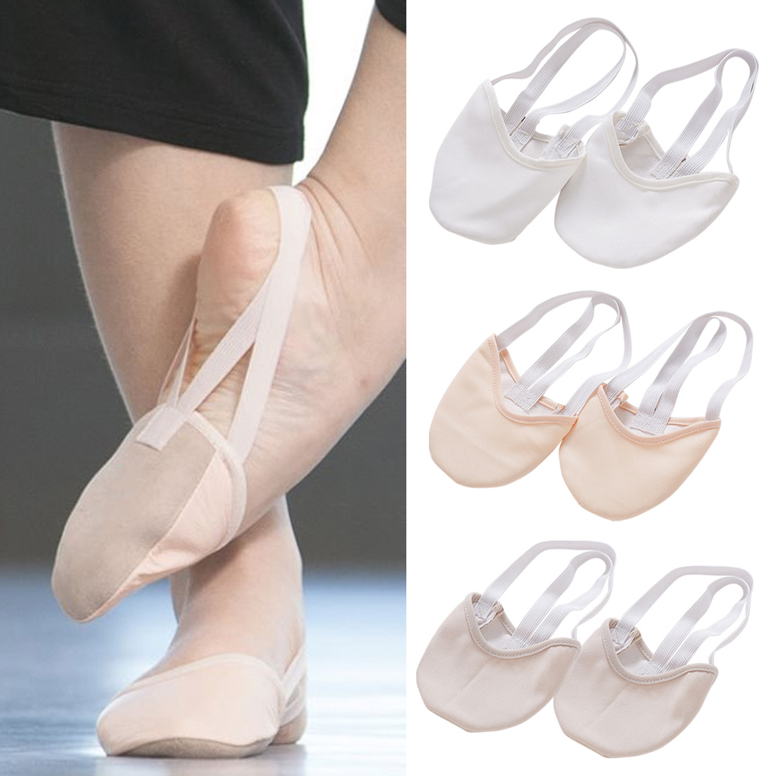 Hot Half Length Rhythmic Gymnastic Shoes Roupa Ginastica Child Adult Gymnastics Pig Skin Sole Shoes Beige Dancing Dance