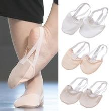 Лидер продаж; Ритмическая гимнастическая обувь средней длины; Roupa Ginastica; обувь для детей и взрослых; обувь с подошвой из свиной кожи; цвет бежевый; обувь для танцев