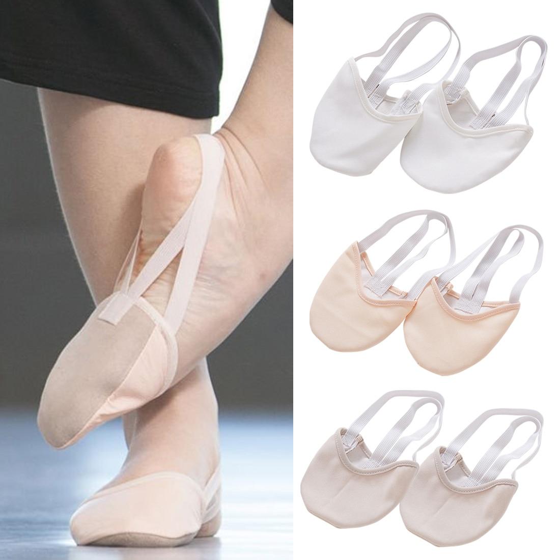 Gorące pół długości do gimnastyki artystycznej buty Roupa Ginastica dziecko dorosłych gimnastyka świnia skóra podeszwa buty beżowy taniec taniec