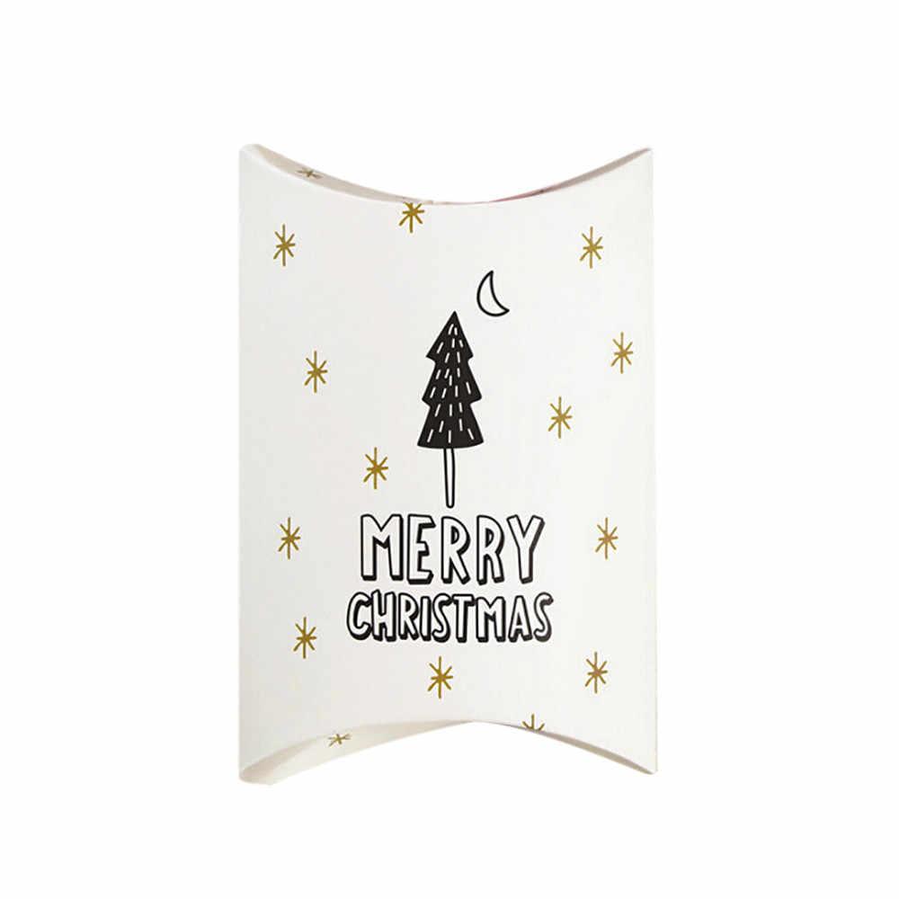 عيد ميلاد سعيد كاندي هدية صناديق الغزلان وشجرة عيد الميلاد الضيوف علب هدايا التعبئة والتغليف حقيبة حفلة عيد الميلاد تفضل الاطفال هدية ديكور