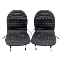 Black Gray Universal Electric Heated Automobiles Seat Covers Winter Supply Heater Warmer 2Pcs Set Car Seat