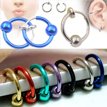 1pcs Colorful Fake Nose Ring Lip Ear Nose Clip On