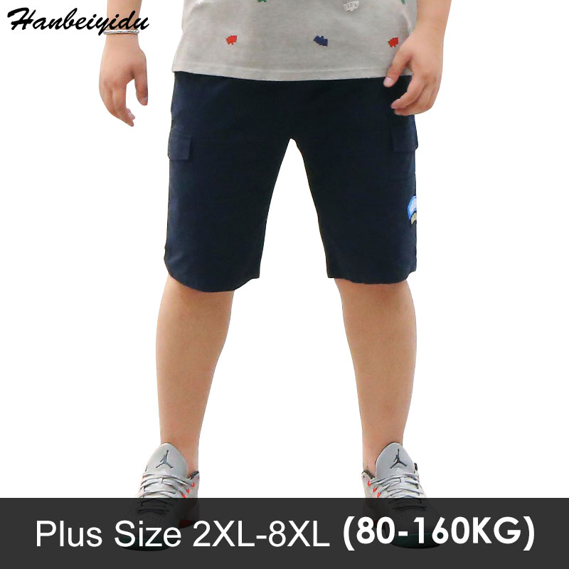Shorts Men 2018 Summer Fashion Mens Shorts Casual Cotton Beach Short Trousers Knee Length Plus Size Hip Hop Clothing Streetwear