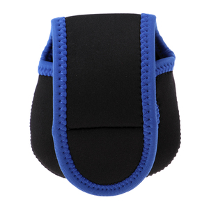 Image 5 - Baitcasting Reel Pouch Shockproof Trolling Fishing Reel Bag Cover Blue