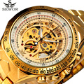 2017 SEWOR Sport Designer Gold Military Automatic Mechanical Watches Mens Top Brand Luxury Wristwatches Clock Skeleton Watch Men