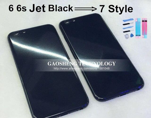 finest selection 62995 145e7 US $29.52  Jet Black Housing for Iphone 6 6s Housing Black 7 style Jek  Black Metal Frame Glossy Black Housing Battery cover Full Black-in Mobile  Phone ...