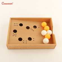 Montessori Sensory Toys Blow Box Games Children House Toddlers Early Educational Preschool Sensorial Teaching Toys Kids SE055-3 sensorial montessori sets educational toys infant toddlers box board puzzles teaching wood game and toys preschool home ses02 3
