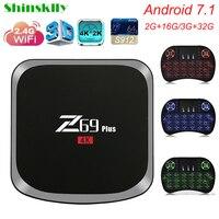 Shinsklly Z69 PLUS Android TV BOX Amlogic S912 RAM 2 3G ROM 16 32G Android 7
