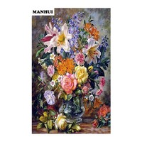 Needlework 5d Diy Diamond Painting Cross Stitch Beautiful Flowers Diamond Embroidery Square Mosaic Picture BSF081
