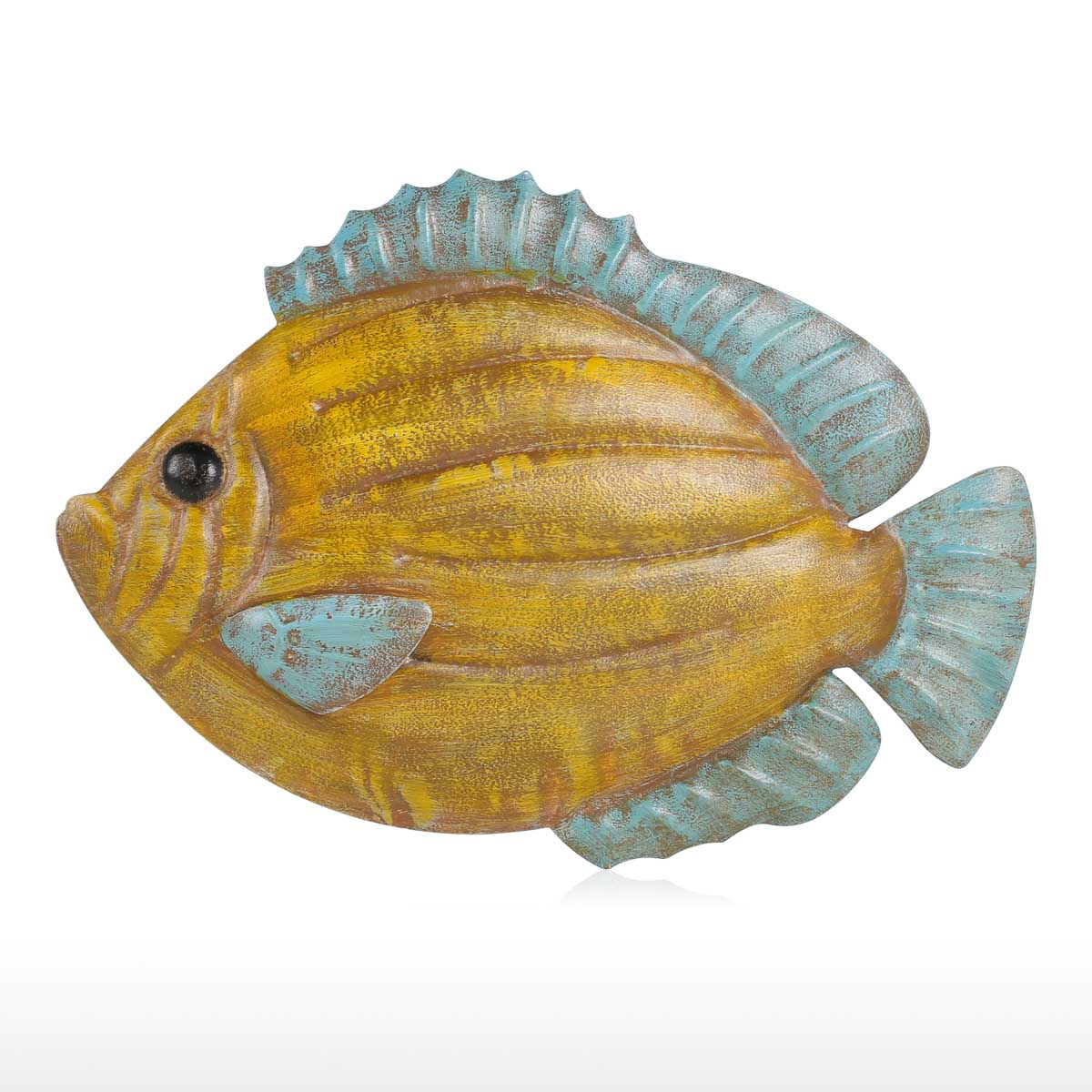 Tooarts Muticolored Fish Wall Hanging Iron Wall Decor Creative ...