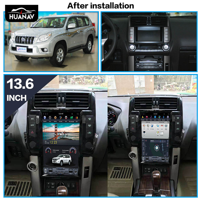 Android 8.1 <font><b>Car</b></font> DVD Player GPS navigation <font><b>For</b></font> <font><b>TOYOTA</b></font> Land Cruiser <font><b>Prado</b></font> <font><b>150</b></font> <font><b>2010</b></font>-2013 <font><b>Car</b></font> auto <font><b>radio</b></font> player multimedia head unit image