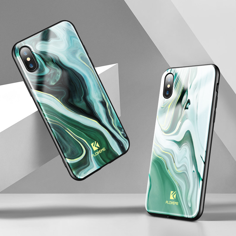 FLOVEME Luxury <font><b>Cases</b></font> For <font><b>iPhone</b></font> X <font><b>iPhone</b></font> <font><b>8</b></font> 7 Plus Phone <font><b>Case</b></font> <font><b>Original</b></font> Agate Marble Slim Fundas For Apple <font><b>iPhone</b></font> X 7 <font><b>8</b></font> Capinhas image