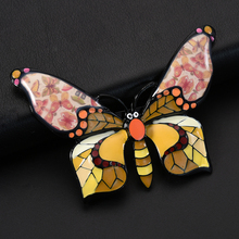 D&Rui Jewelry Beautiful Enamel Butterfly Brooch Clothing for Women Kids Accessories Antique Metal Insect Shape Brooches & Pins