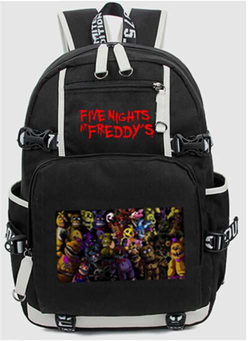 New Five Nights At Freddy's Freddy Backpack Chica Foxy Bonnie FNAF Shoulder 44x15x33 cm