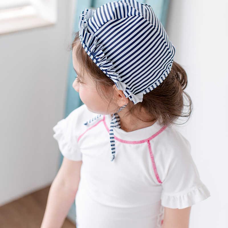 SKDK/летний купальный костюм для маленьких девочек из 2 предметов с рисунком фламинго, белый полосатый купальник с принтом, пляжная одежда для девочек, детские купальные костюмы