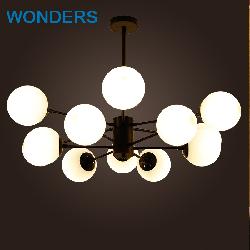 New stype Magic Bean Chandeliers Pendant Lamps AC 110-240V LED DNA Bubble Modern Glass lamp For Living Room Mall Hotel Decor modern magic bean dna molecules chandelier pendant lamp dna lamp modern glass ball lamps with 10 bulbs