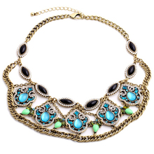 2017 Collares Collier Maxi Necklace Summer New Luxury Chunky Statement Collar Choker Necklace Fashion Charm Jewelry Wholesale