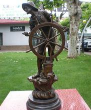 The sculpture of the ocean voyage figure bronze handicraft art gift ornaments