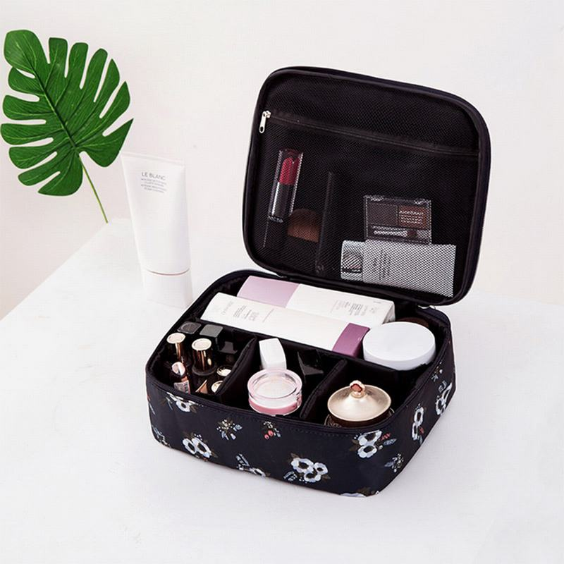 Image 4 - Travel Fashion Lady Cosmetics  Bag Beautician Portable Storage Bags Large Capacity Women Makeup Bag-in Storage Bags from Home & Garden