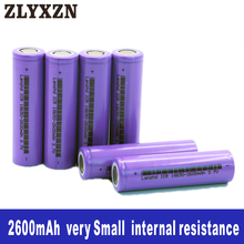 1-10PCS 18650 Li-ion 3.7v Battery 2600mAh 26f lithium batteries for Laptop,Toy,Electric drill battery,Power battery,lion