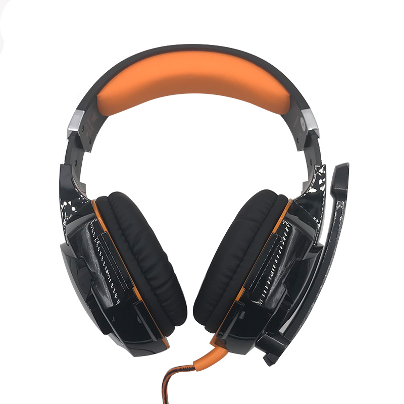 HEONYIRRY Best PC Gamer G2000 Stereo Hifi Gaming Headphones With Microphone Dazzle Light ...