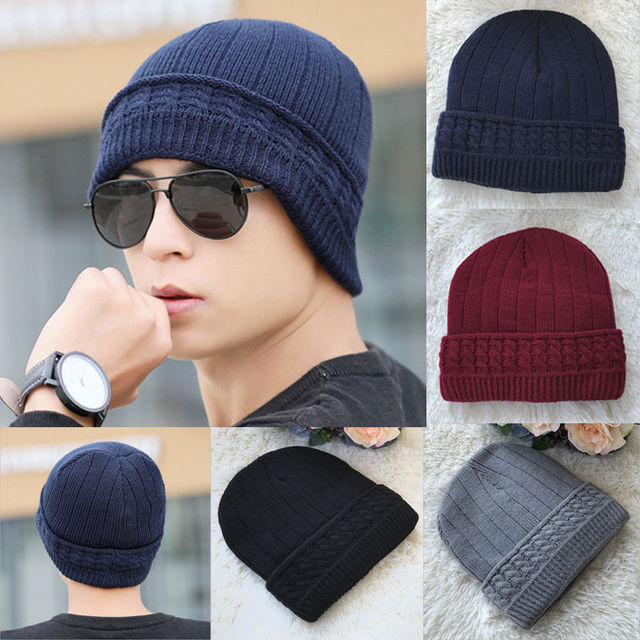 01f764c4 Fashion Womens Mens Knitted Hat Insulated Warm Winter Solid Wooly Outdoor  Chunky Thermal Beanie Ski