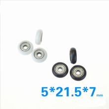 9PCS 625ZZ POM Bearings Passive Round Roller Wheel with Kossel delrin Plastic Wheel 5x21.5x7mm for 3D Printer Parts