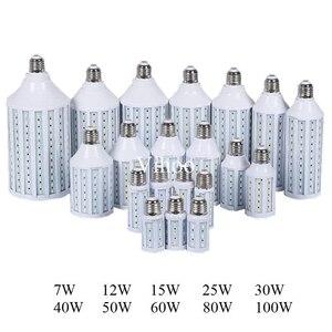 Image 1 - 7W 12W 15W 25W 30W 40W 50W 60W 80W 100W E27 B22 E40 SMD 5730 5630 LED corn bulb light droplight lighting Pendant downlight lamp