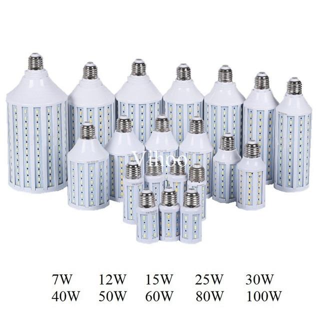 7W 12W 15W 25W 30W 40W 50W 60W 80W 100W E27 B22 E40 SMD 5730 5630 LED corn bulb light droplight lighting Pendant downlight lamp
