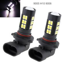 2 Pcs Car  Led Fog Light Bulbs 12V 80W 9005 9006 H10 LED 6000K White Light Projector High Power Fog Driving Light Bulb fo Cars стоимость