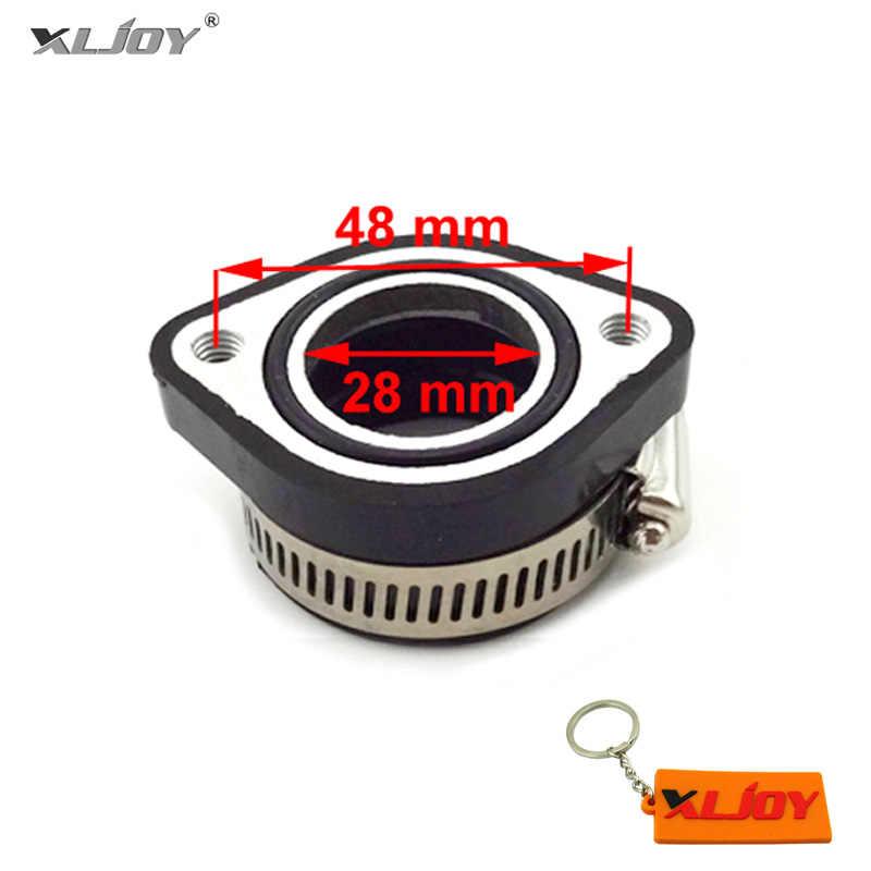 28mm Carb Intake Mainfold Adapter Boot Rubber Pipe Flange For Mikuni VM24  Keihin PE24 PE26 PE28 OKO Carburetor Pit Dirt Bike