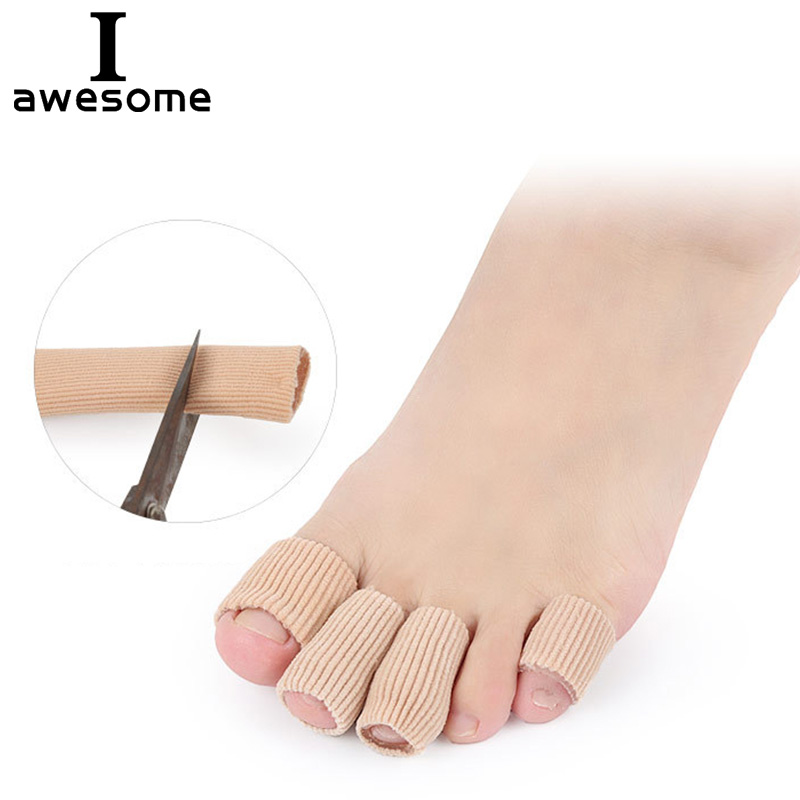 Soft Silicone Gel Toe Sleeves Separators Finger Tube Insole Protector Foot Caps Protector Feet Finger Toe Protector Insert