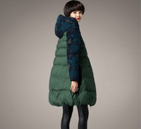 Plus Size 5XL Women's Jackets Long Wool Patchwork Duck Down Parka Hooded 2017 Winter Thicken Female Outerwear Coats Clothes New