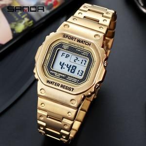 Image 5 - 三田メンズ腕時計トップブランドの高級ledデジタル腕時計メンズファッション防水スポーツ時計男性時計レロジオmasculino