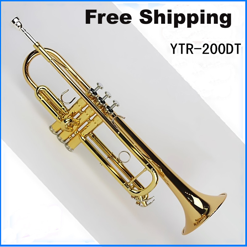 free shipping new hot sale high quality trumpet ytr 200dt trumpet bb small brass instruments. Black Bedroom Furniture Sets. Home Design Ideas