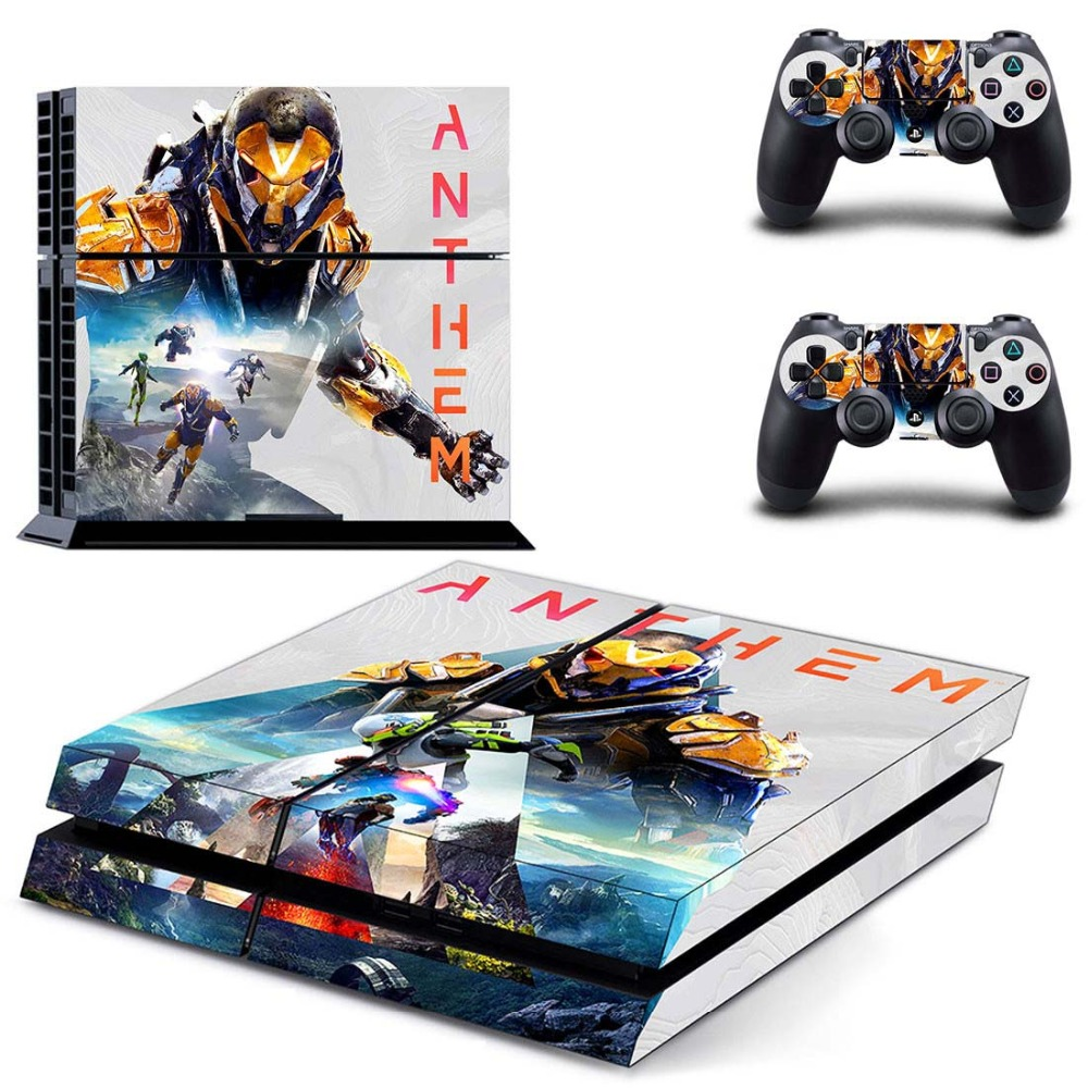 US $7 19 10% OFF|Anthem PS4 Skin Sticker for Sony PS4 PlayStation 4 console  and 2 controller skins-in Stickers from Consumer Electronics on