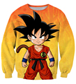 Classic cartoon Dragon Ball Z Goku Sweatshirt Men Women Long Sleeve Outerwear Cute Anime 3D casual Crewneck Pullovers