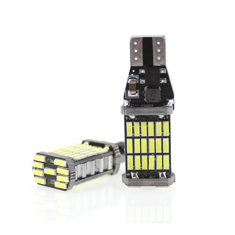 2 Stks T10 W5W T15 W16W 4014 45SMD Canbus FOUT GRATIS - Autolichten - Foto 2