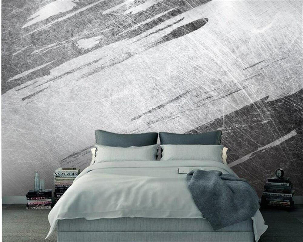 Disegni Geometrici Bianco E Nero us $8.85 41% di sconto beibehang carta da parati personalizzata 3d astratta  sfondo della parete in bianco e nero carta da parati retro disegno