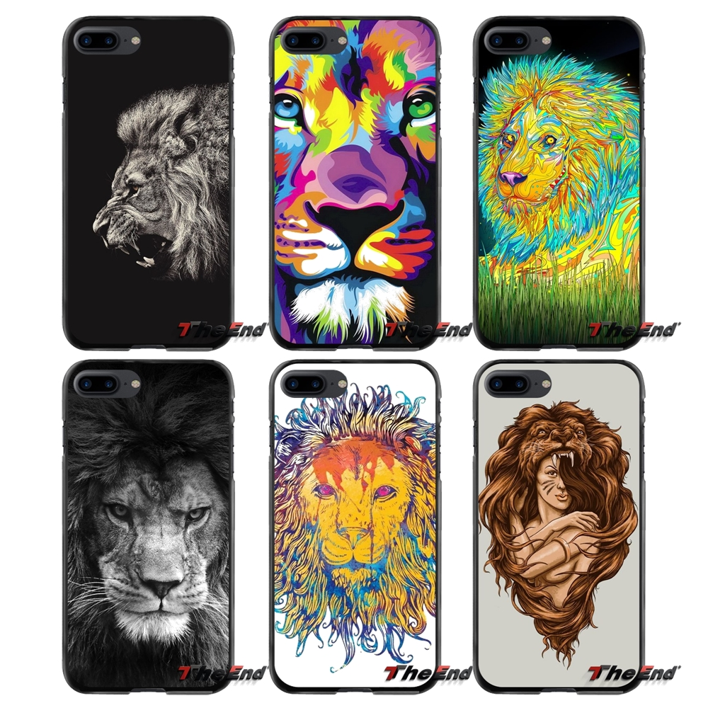For Apple iPhone 4 4S 5 5S 5C SE 6 6S 7 8 Plus X iPod Touch 4 5 6 cool king lion Accessories Phone Cases Covers